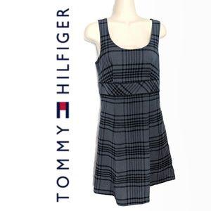 Tommy Hilfiger 90s Grunge Plaid Mini Dress Sz 2